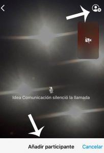 Imagen de la interfaz de WhatsApp para la Videollamada Múltiple